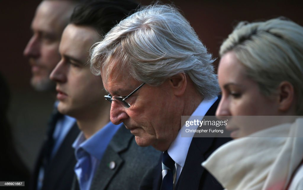 Actor William Roache (2nd R) arrives at Preston Crown Court with his children (L-R) Linus Roache, James Roache and Verity Roache for of his trial over historical sexual offence allegations on February 5, 2014 in Preston, Lancashire. On the 16th day of the trial Judge Timothy Holroyd will finish summing up the trial of the Coronation Street star, who plays the character Ken Barlow on the ITV soap. Roache is charged with two rape and four indecent assault allegations which relate to incidents between 1965 and 1971.
