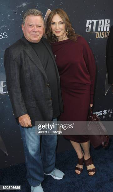 Actor William Shatner and actress Gates McFadden arrive for the Premiere Of CBS's 'Star Trek Discovery' held at The Cinerama Dome on September 19...