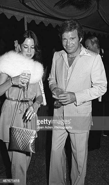 Actor William Shatner and his wife Marcy Lafferty attend a reception for Dame Margot Fonteyn at the home of Vidal and Beverly Sassoon on June 1 1978...