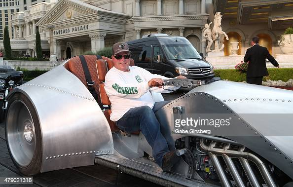 Actor William Shatner arrives at Caesars Palace as part of his Rivet Motorcycle Tour on June 29 2015 in Las Vegas Nevada