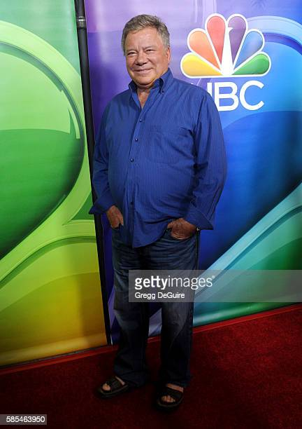 Actor William Shatner arrives at the 2016 Summer TCA Tour NBCUniversal Press Tour Day 1 at The Beverly Hilton Hotel on August 2 2016 in Beverly Hills...