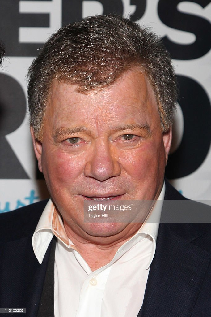 Actor <a gi-track='captionPersonalityLinkClicked' href=/galleries/search?phrase=William+Shatner&family=editorial&specificpeople=202461 ng-click='$event.stopPropagation()'>William Shatner</a> attends a performance of 'Shatner's World: We Just Live In It' at the Music Box Theatre on February 27, 2012 in New York City.
