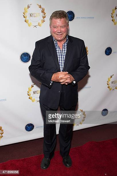Actor William Shatner attends the 2015 New York City International Film Festival screening of 'Chaos On The Bridge' at DGA Theater on May 1 2015 in...