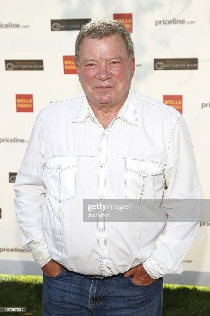 Actor <a gi-track='captionPersonalityLinkClicked' href=/galleries/search?phrase=William+Shatner&family=editorial&specificpeople=202461 ng-click='$event.stopPropagation()'>William Shatner</a> attends the 23rd Annual <a gi-track='captionPersonalityLinkClicked' href=/galleries/search?phrase=William+Shatner&family=editorial&specificpeople=202461 ng-click='$event.stopPropagation()'>William Shatner</a> Priceline.com Hollywood Charity Horse Show at Los Angeles Equestrian Center on April 27, 2013 in Los Angeles, California.