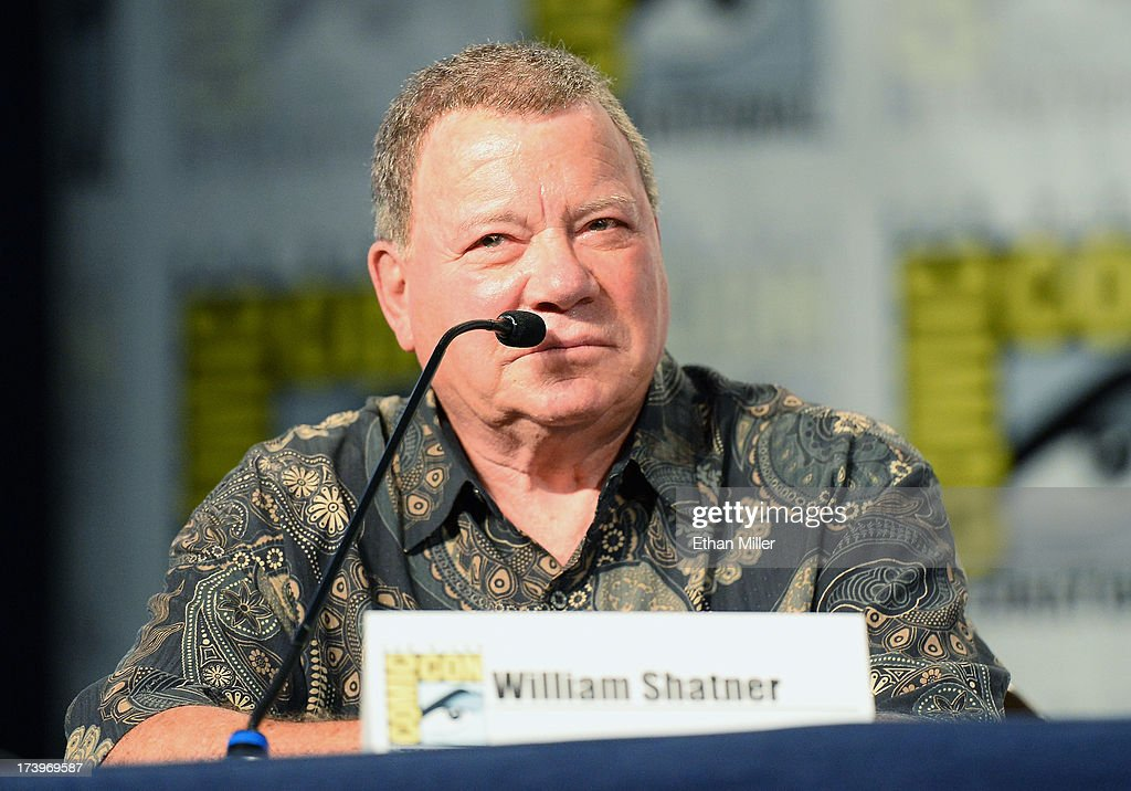 Actor <a gi-track='captionPersonalityLinkClicked' href=/galleries/search?phrase=William+Shatner&family=editorial&specificpeople=202461 ng-click='$event.stopPropagation()'>William Shatner</a> attends the Comedy Legends of TV Land panel during Comic-Con International 2013 at the Hilton San Diego Bayfront Hotel on July 18, 2013 in San Diego, California.