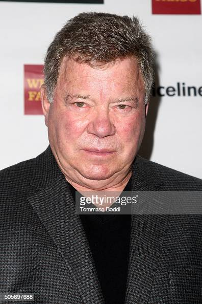 Actor William Shatner attends the Gifting Ceremony For Pricelinecom Hollywood Charity Horse Show at The Six Restaurant on January 19 2016 in Studio...