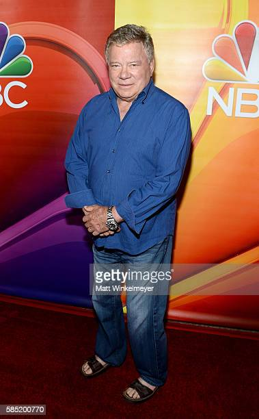Actor William Shatner attends the NBCUniversal press day during the 2016 Summer TCA Tour at The Beverly Hilton Hotel on August 2 2016 in Beverly...