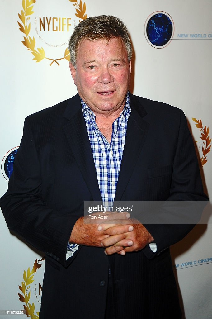 Actor William Shatner attends the New York City International Film Festival screening of 'Chaos On The Bridge' at DGA Theater on May 1 2015 in New...