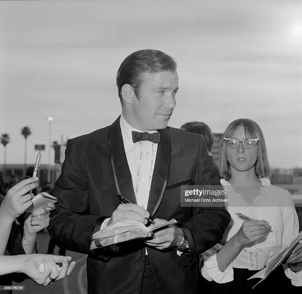 Actor William Shatner signs his autographs to fans before an event in Los AngelesCA