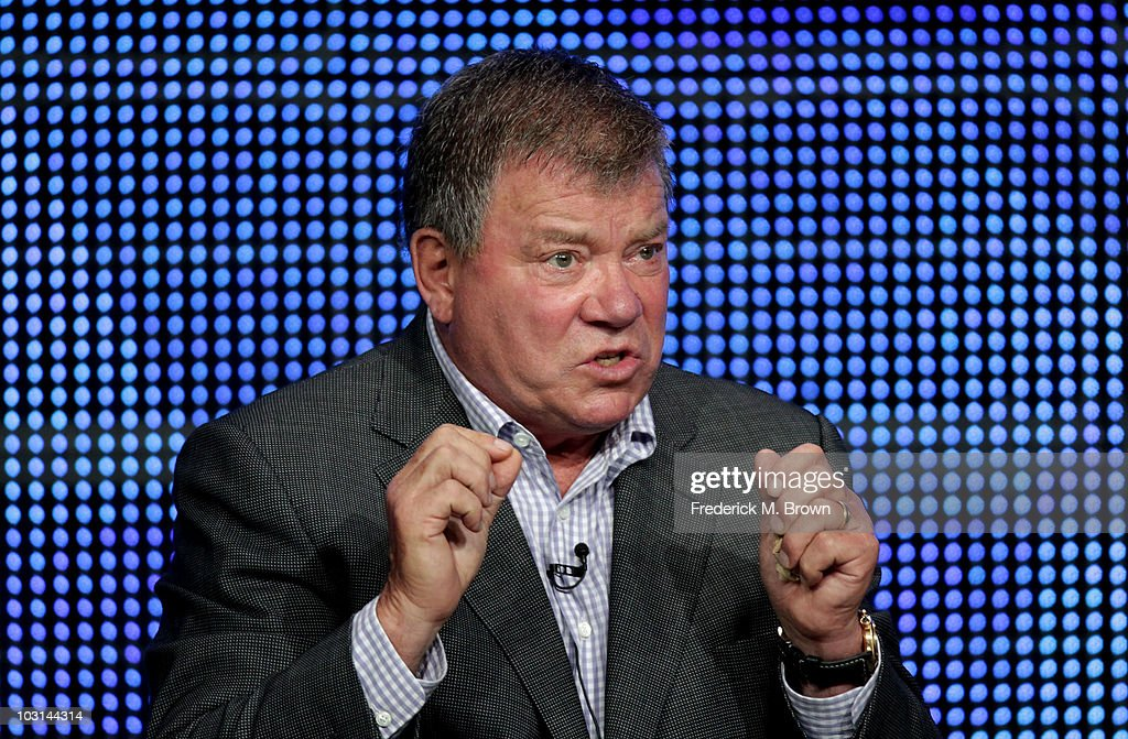 Actor William Shatner speaks at '$#*! My Dad Says' panel during 2010 Summer TCA Tour Day 1 at the Beverly Hilton Hotel on July 28, 2010 in Beverly Hills, California.
