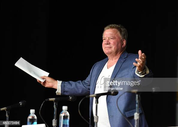 Actor William Shatner speaks onstage at 'The Autobiography of James T Kirk' during ComicCon International 2015 at the San Diego Convention Center on...