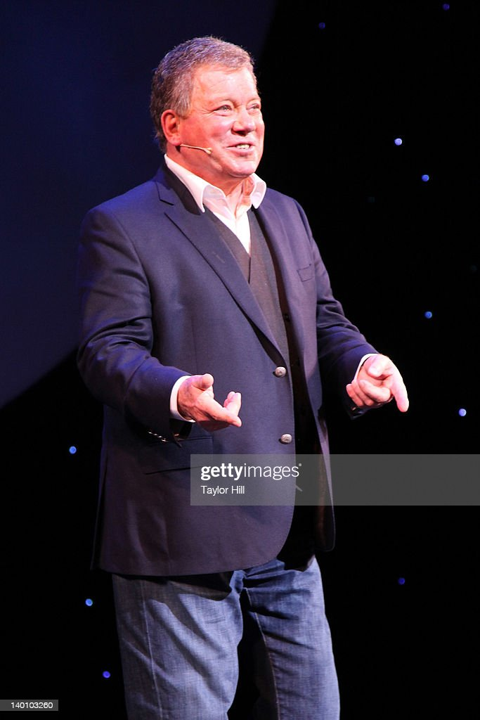Actor <a gi-track='captionPersonalityLinkClicked' href=/galleries/search?phrase=William+Shatner&family=editorial&specificpeople=202461 ng-click='$event.stopPropagation()'>William Shatner</a> takes a bow during his performance of 'Shatner's World: We Just Live In It' at the Music Box Theatre on February 27, 2012 in New York City.