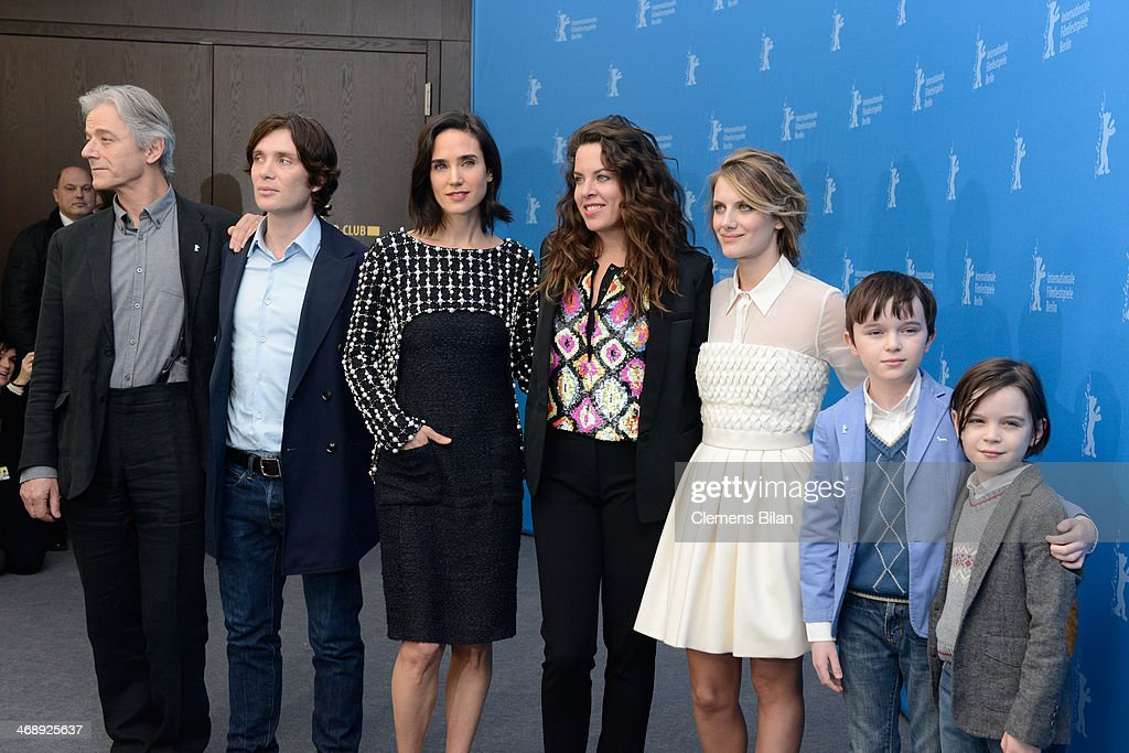 Actor William Shimell, actor Cillian Murphy, actress Jennifer Connelly, director Claudia Llosa, actress Melanie Laurent, actor Zen McGrath and actor Winta McGrath attend the 'Aloft' photocall during 64th Berlinale International Film Festival at Grand Hyatt Hotel on February 12, 2014 in Berlin, Germany.