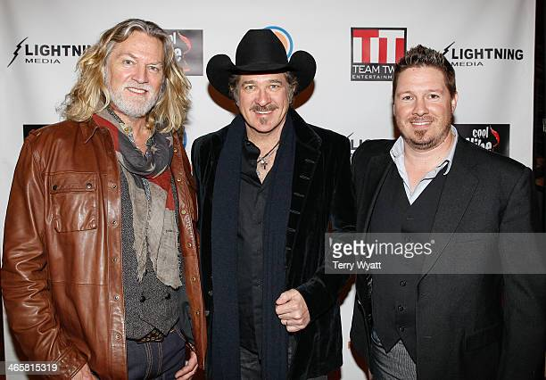 Actor William Shockley Kix Brooks and Director Dustin Rikert attend the 'Ambush At Dark Canyon' premiere at the Country Music Hall of Fame and Museum...