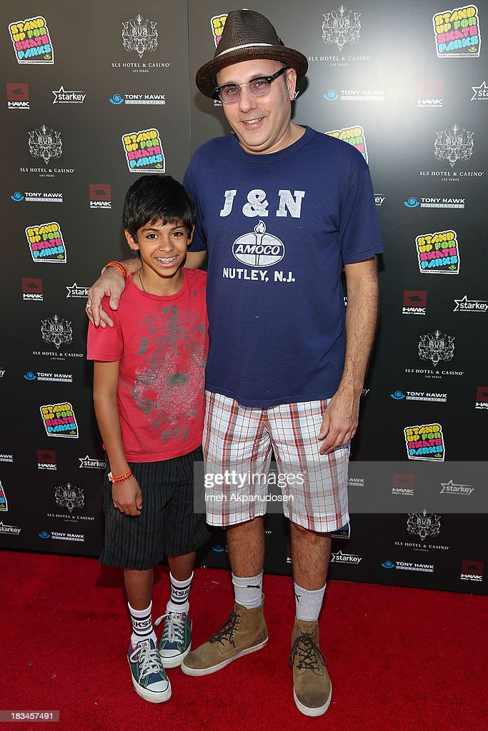 Actor Willie Garson (R) and his son, Nathen, attend the 10th Annual Stand Up For Skateparks Benefiting The Tony Hawk Foundation on October 5, 2013 in Beverly Hills, California.