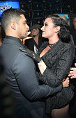 Actor Wilmer Valderrama and Demi Lovato attend the 2015 American Music Awards at Microsoft Theater on November 22 2015 in Los Angeles California