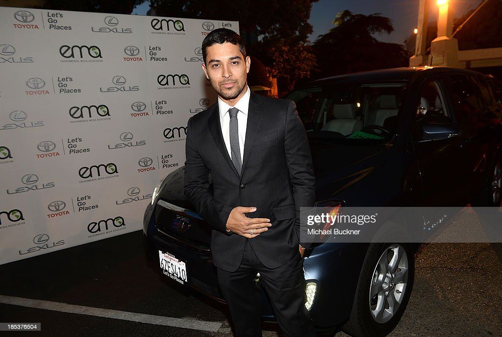 Actor <a gi-track='captionPersonalityLinkClicked' href=/galleries/search?phrase=Wilmer+Valderrama&family=editorial&specificpeople=202028 ng-click='$event.stopPropagation()'>Wilmer Valderrama</a> arrives at the 23rd Annual Environmental Media Awards presented by Toyota and Lexus at Warner Bros. Studios on October 19, 2013 in Burbank, California.
