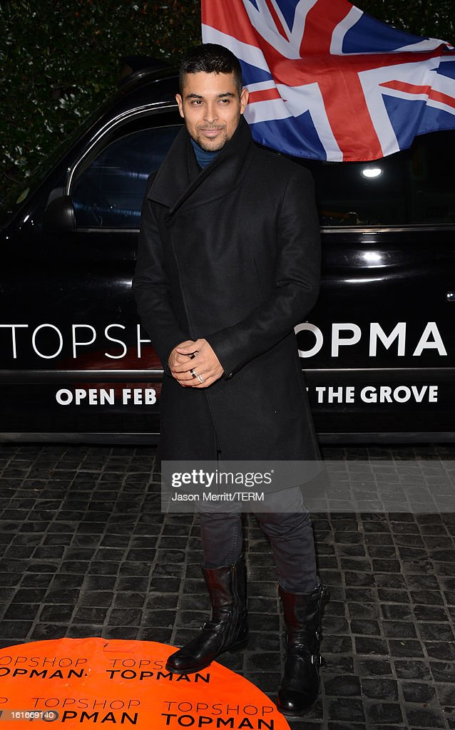 Actor Wilmer Valderrama arrives at the Topshop Topman LA Opening Party at Cecconi's West Hollywood on February 13, 2013 in Los Angeles, California.