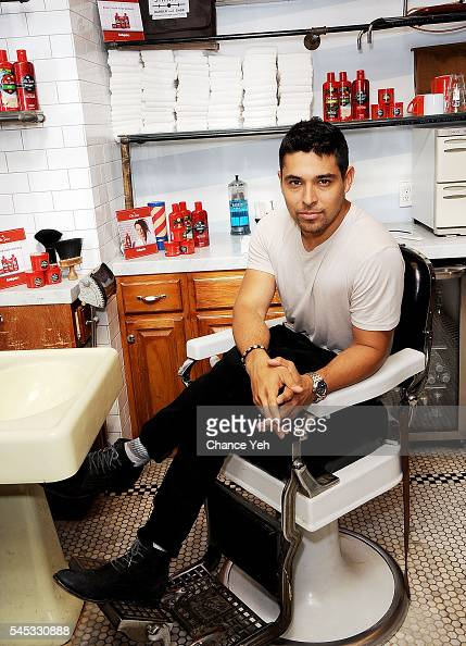 Actor Wilmer Valderrama attends Old Spice Right Hair Wrongs at Sharps Barber and Shop at Le Parker Meridian Hotel on July 7 2016 in New York City