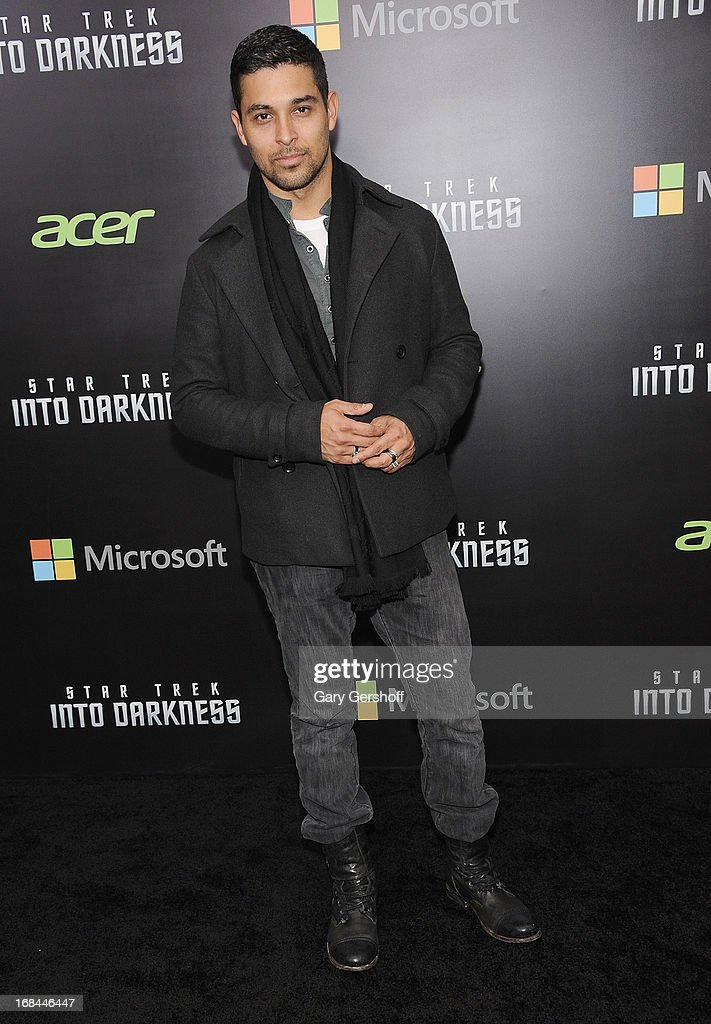 Actor <a gi-track='captionPersonalityLinkClicked' href=/galleries/search?phrase=Wilmer+Valderrama&family=editorial&specificpeople=202028 ng-click='$event.stopPropagation()'>Wilmer Valderrama</a> attends the 'Star Trek Into Darkness' screening at AMC Loews Lincoln Square on May 9, 2013 in New York City.
