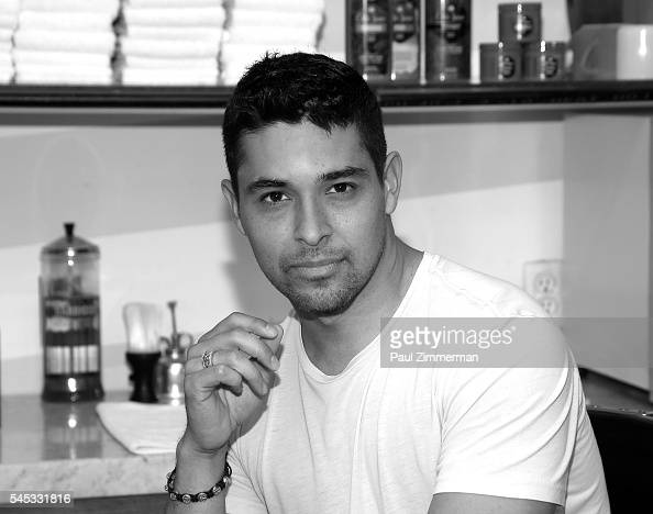 Actor Wilmer Valderrama attends the Wilmer Valderrama and Old Spice Right Hair Wrongs at Sharps Barber and Shop on July 7 2016 in New York City