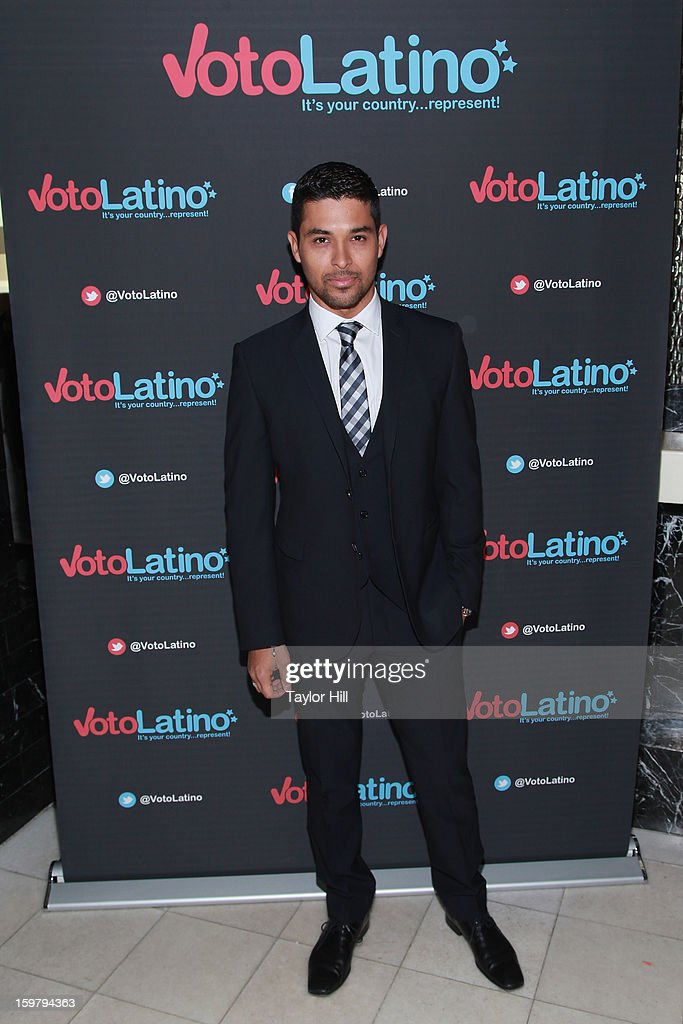 Actor <a gi-track='captionPersonalityLinkClicked' href=/galleries/search?phrase=Wilmer+Valderrama&family=editorial&specificpeople=202028 ng-click='$event.stopPropagation()'>Wilmer Valderrama</a> attends Voto Latino's 2013 Inauguration Celebration at Oya Restaurant on January 20, 2013 in Washington, DC.