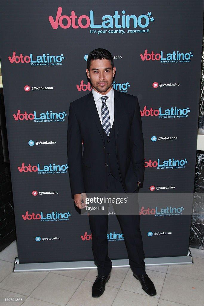 Actor Wilmer Valderrama attends Voto Latino's 2013 Inauguration Celebration at Oya Restaurant on January 20, 2013 in Washington, DC.
