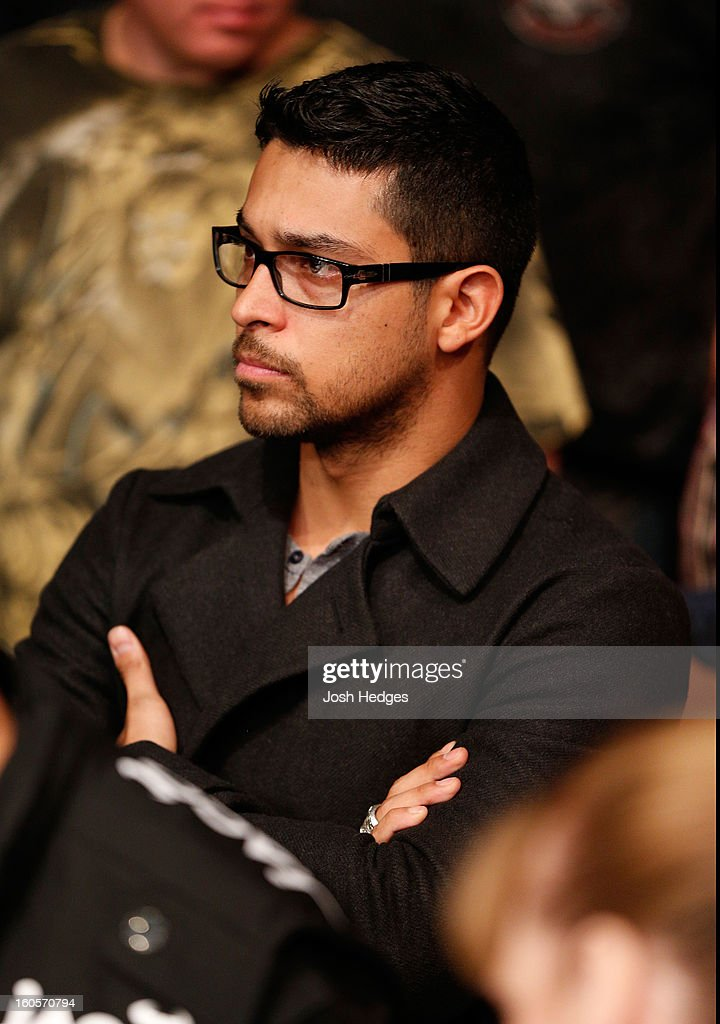 Actor Wilmer Valderrama in attendance during UFC 156 on February 2, 2013 at the Mandalay Bay Events Center in Las Vegas, Nevada.