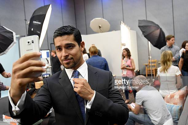 Actor Wilmer Valderrama of 'Minority Report' takes a selfie at the Getty Images Portrait Studio powered by Samsung Galaxy at ComicCon International...