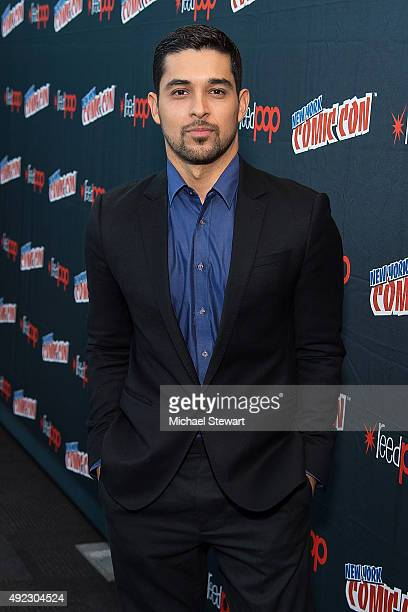 Actor Wilmer Valderrama poses in the press room for the 'Minority Report' panel during Comic Con Day 4 at The Jacob K Javits Convention Center on...