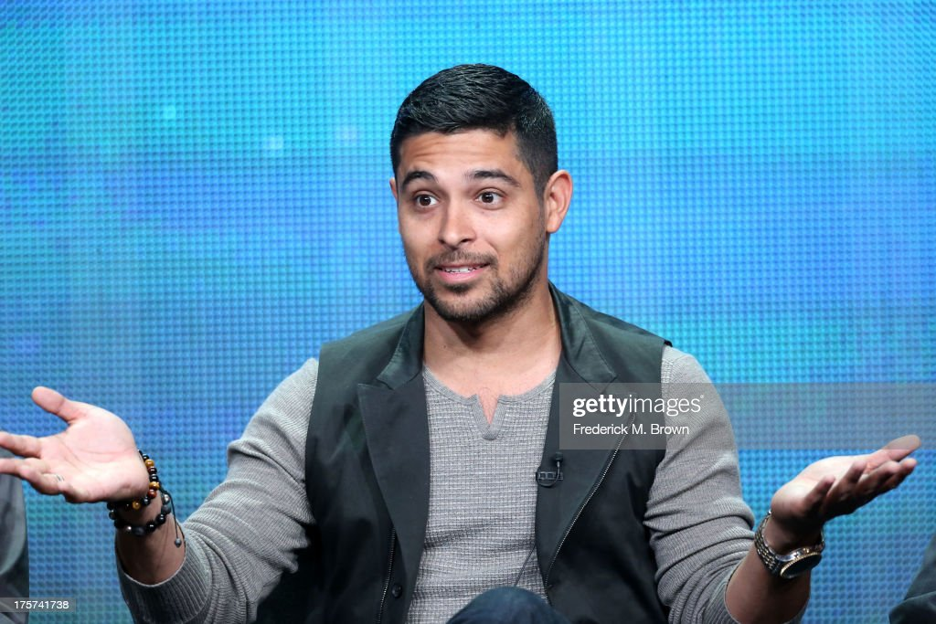 Actor <a gi-track='captionPersonalityLinkClicked' href=/galleries/search?phrase=Wilmer+Valderrama&family=editorial&specificpeople=202028 ng-click='$event.stopPropagation()'>Wilmer Valderrama</a> speaks onstage during 'The Graduates/Los Graduados' panel discussion at the PBS portion of the 2013 Summer Television Critics Association tour at the Beverly Hilton Hotel on August 7, 2013 in Beverly Hills, California.