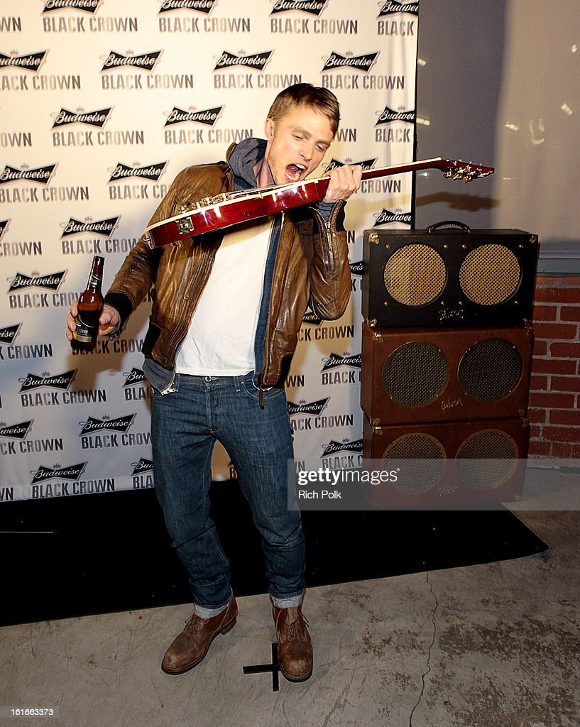 Actor Wilson Bethel attends the Budweiser Black Crown Launch Party at gibson/baldwin showroom on February 13, 2013 in Los Angeles, California.
