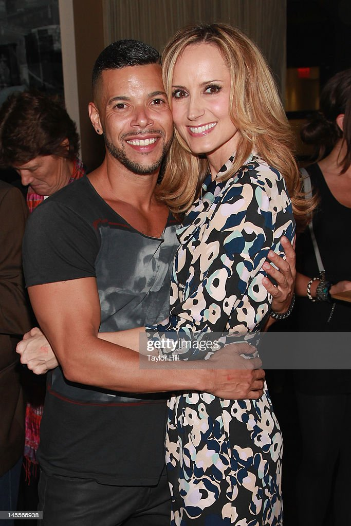 Actor Wilson Cruz and country musician Chely Wright attend the 'Chely Wright: Wish Me Away' New York After Party at Zio Restaurant on June 1, 2012 in New York City.