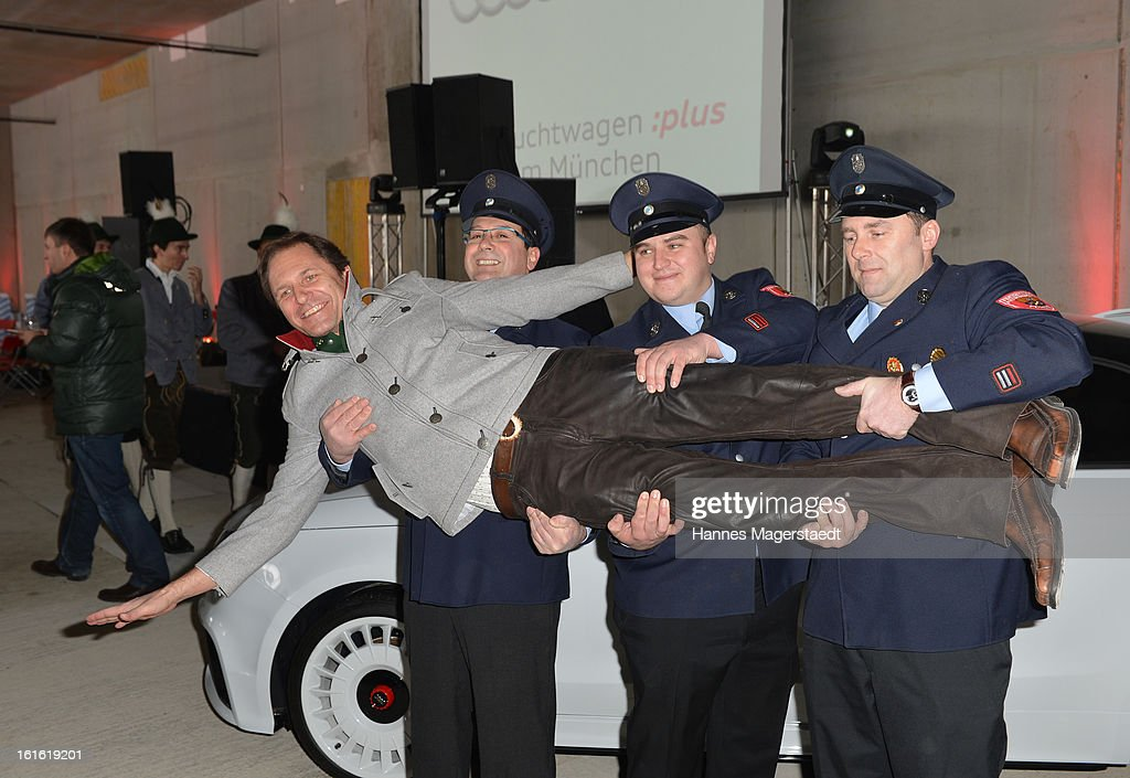 Actor Winfried Frey attends the roofing ceremony at Audi second-hand car center on February 13, 2013 in Munich, Germany.