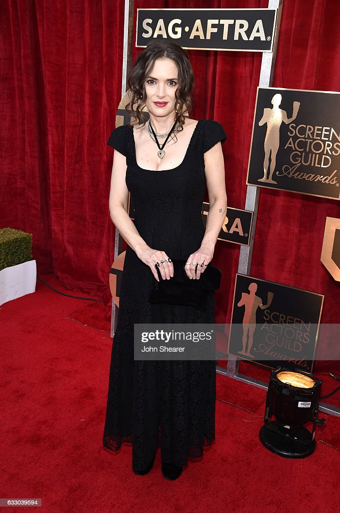 Actor Winona Ryder attends The 23rd Annual Screen Actors Guild Awards at The Shrine Auditorium on January 29, 2017 in Los Angeles, California.
