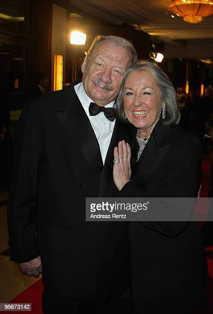 Actor Wolfgang Voelz and his wife Roswitha Voelz attend at the 111 Berlin Press ball at Maritim Hotel on January 9 2010 in Berlin Germany