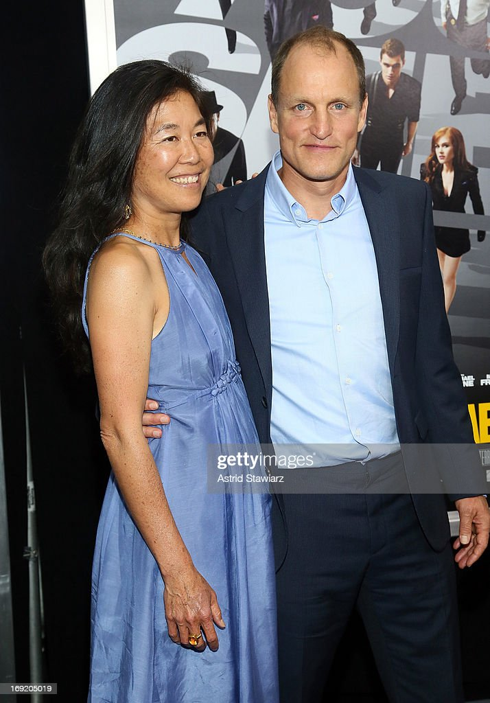 Actor <a gi-track='captionPersonalityLinkClicked' href=/galleries/search?phrase=Woody+Harrelson&family=editorial&specificpeople=208923 ng-click='$event.stopPropagation()'>Woody Harrelson</a> amd Laura Louie attend the 'Now You See Me' New York Premiere at AMC Lincoln Square Theater on May 21, 2013 in New York City.