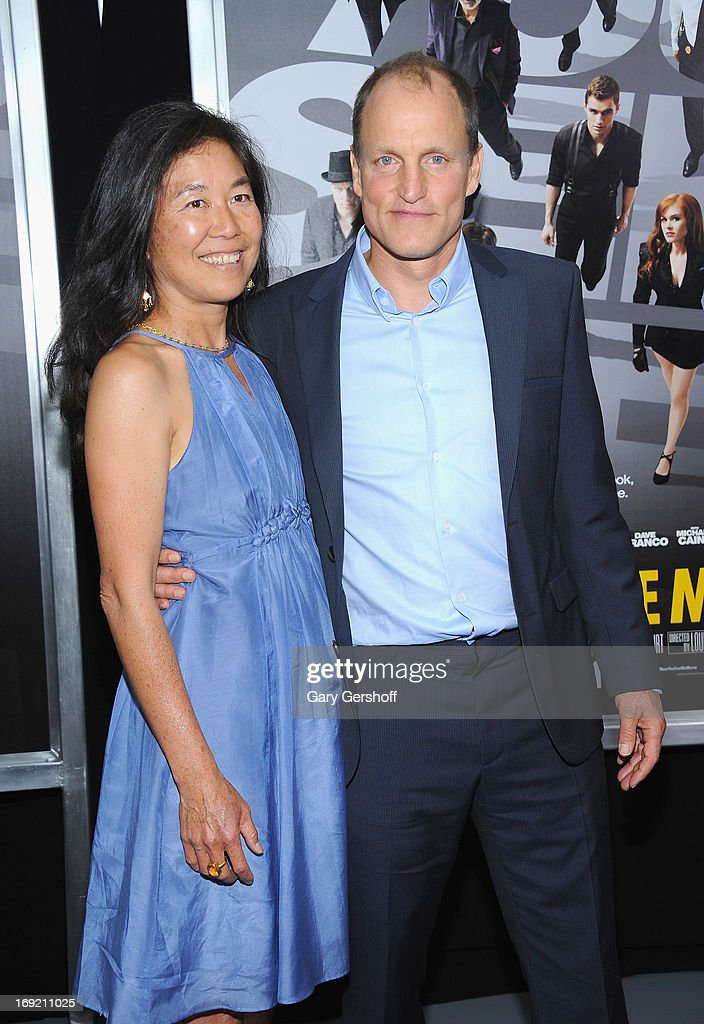 Actor <a gi-track='captionPersonalityLinkClicked' href=/galleries/search?phrase=Woody+Harrelson&family=editorial&specificpeople=208923 ng-click='$event.stopPropagation()'>Woody Harrelson</a> (R) and Laura Louie attends the 'Now You See Me' premiere at AMC Lincoln Square Theater on May 21, 2013 in New York City.