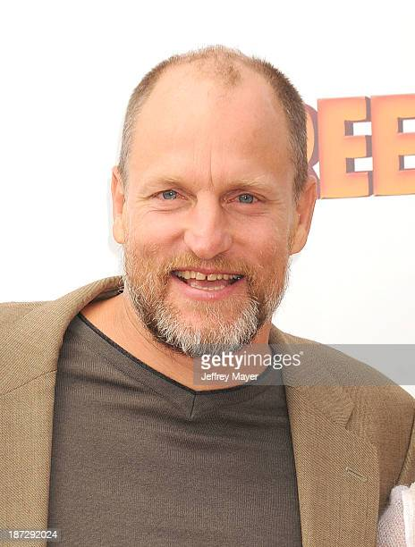 Actor Woody Harrelson arrives at the 'Free Birds' Los Angeles Premiere at Westwood Village Theatre on October 13 2013 in Westwood California
