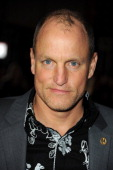 Actor Woody Harrelson arrives at the premiere of Lionsgate's 'The Hunger Games' at Nokia Theatre LA Live on March 12 2012 in Los Angeles California