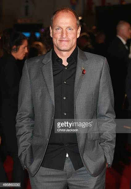 Actor Woody Harrelson attends 'The Hunger Games Mockingjay Part 2' UK Premiere at the Odeon Leicester Square on November 5 2015 in London England