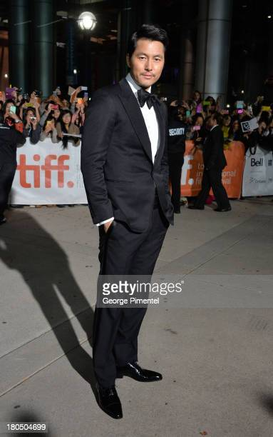 Actor Woosung Jung attends the 'Cold Eyes' premiere during the 2013 Toronto International Film Festival at Roy Thomson Hall on September 13 2013 in...