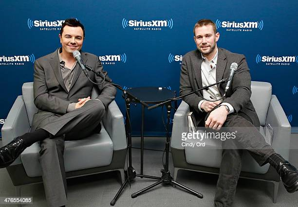 Actor/ writer/ director Seth MacFarlane and Editor of Entertainment Weekly Matt Bean take part in SiriusXM's Town Hall with Seth MacFarlane moderated...