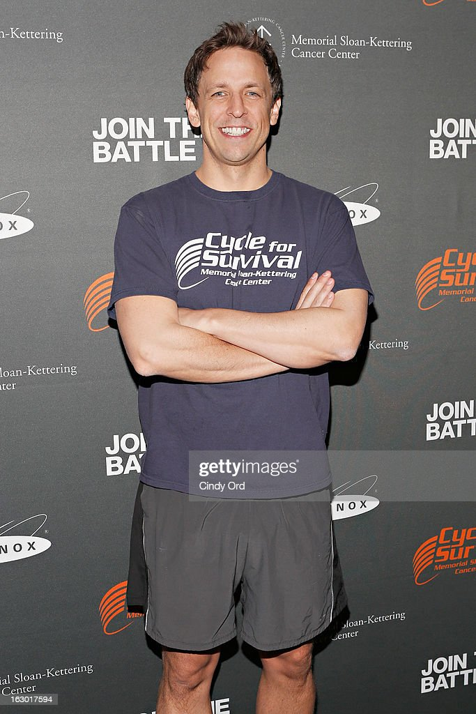 Actor/ writer Seth Meyers attends the 2013 Cycle For Survival Benefit at Equinox Rock Center on March 3, 2013 in New York City.