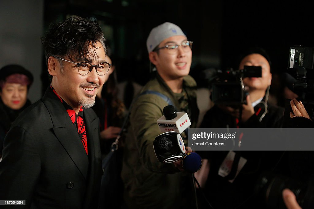 Actor Wu Xiubo speaks to the media at the 4th New York Chinese Film Festival Opening Night at Alice Tully Hall at Lincoln Center on November 5, 2013 in New York City.