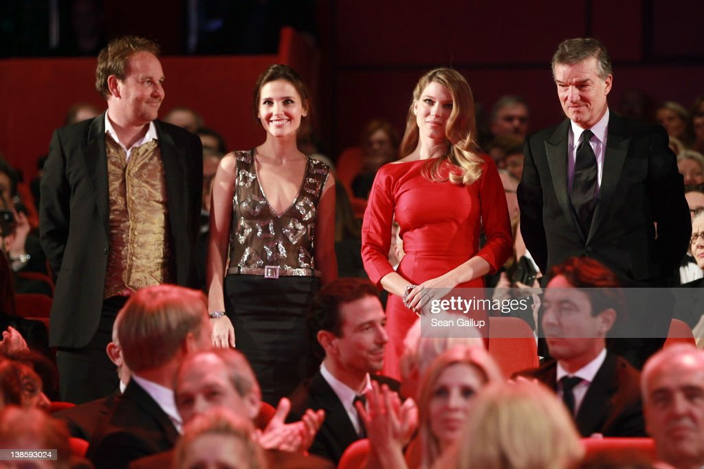 Actor Xavier Beauvois, actress Virginie Ledoyen, Lea Seydoux and Benoit Jacquot attend the Opening Ceremony of the 62nd Berlin International Film Festival at the Berlinale Palast on February 9, 2012 in Berlin, Germany.