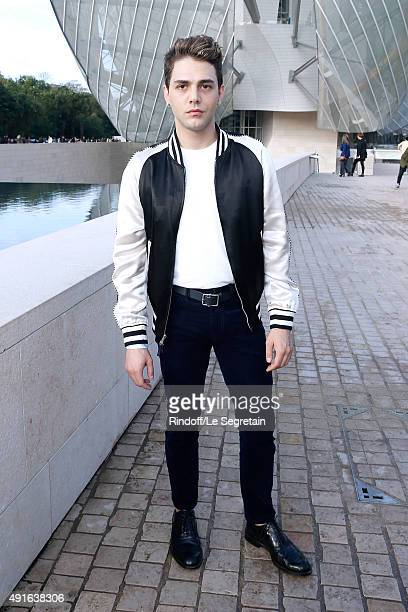 Actor Xavier Dolan attends the Louis Vuitton show as part of the Paris Fashion Week Womenswear Spring/Summer 2016 Held at Fondation Louis Vuitton on...