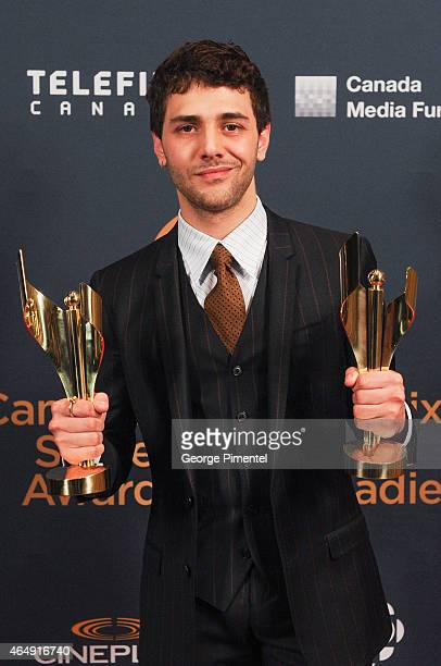 Actor Xavier Dolan poses in the press room at the 2015 Canadian Screen Awards at the Four Seasons Centre for the Performing Arts on March 1 2015 in...