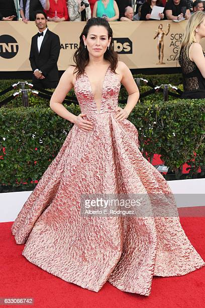 Actor Yael Stone attends the 23rd Annual Screen Actors Guild Awards at The Shrine Expo Hall on January 29 2017 in Los Angeles California