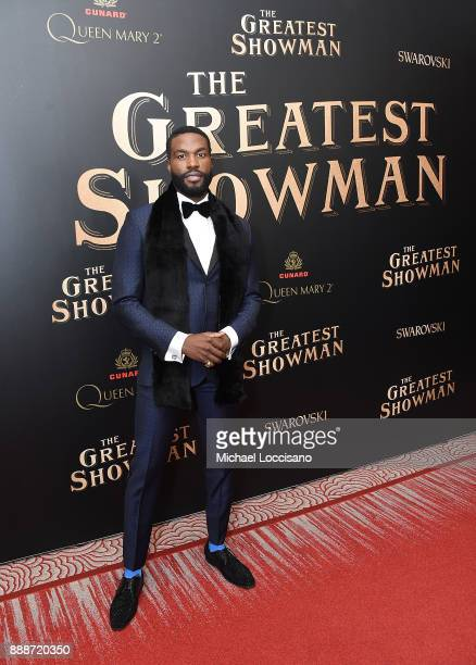 Actor Yahya AbdulMateen II attends the 'The Greatest Showman' World Premiere aboard the Queen Mary 2 at the Brooklyn Cruise Terminal on December 8...